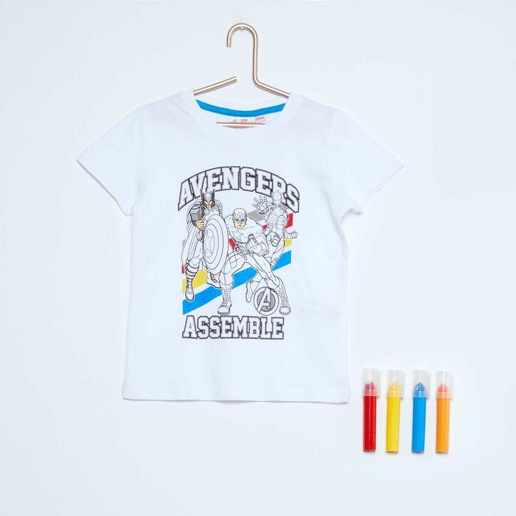 Tee-shirt à colorier 'Avengers' + 4 feutres Garçon - Kiabi - 10,00€