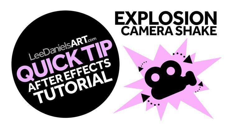 Explosion camera shake