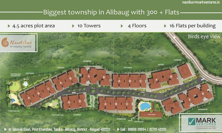 Nautilus is one of the first biggest townships in Alibaug.... http://nautilusalibaug.in/Weekend-Home/#