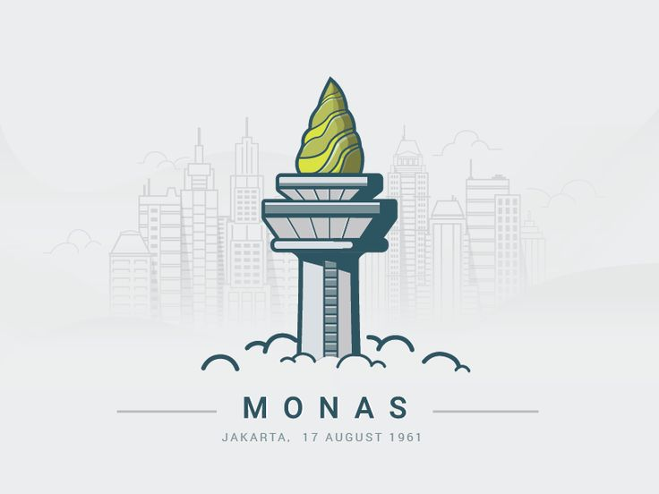 Here is another illustration in my practise room. The National Monument (Indonesian: Monumen Nasional, abbreviated Monas) is a 132 m (433 ft) tower in the centre of Merdeka Square, Central Jakarta,...