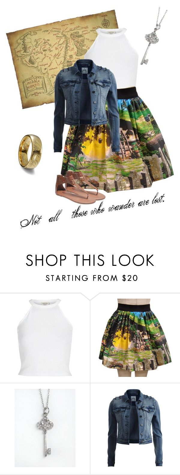 """Untitled #23"" by karlyallen ❤ liked on Polyvore featuring River Island, Lord & Taylor, Object Collectors Item, Wet Seal, lordoftherings and TheHobbit"