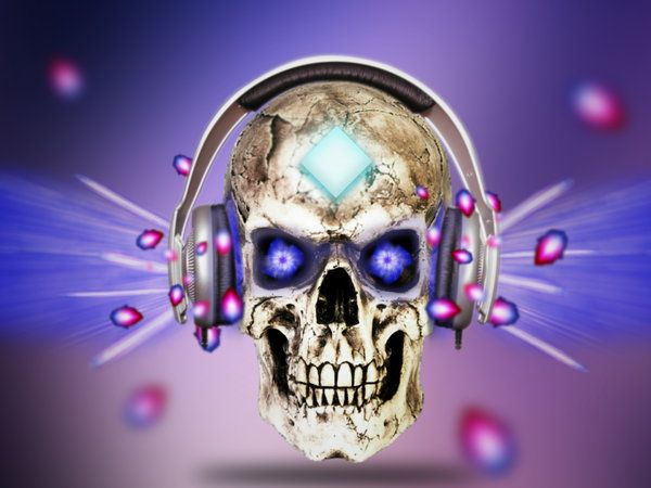 Skeleton With Headphones Skull Headphones Wallpaper