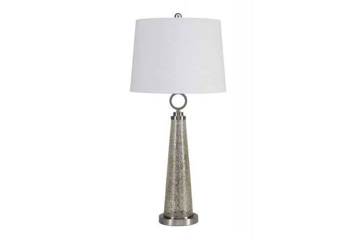 Crafted With Luminous Mercury Glass And Satin Tone Metal, The Arama Table  Lamp Elevates