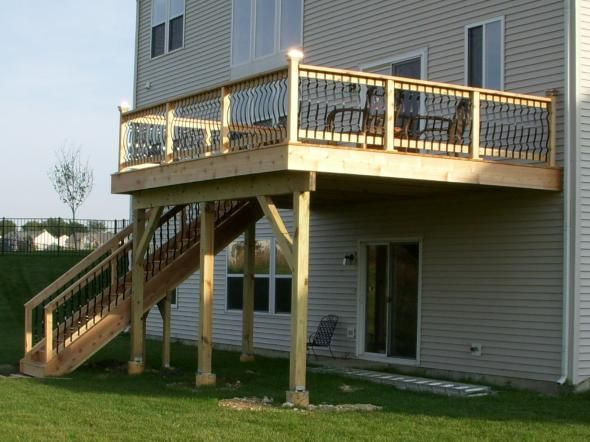 8 best second story deck stairs images on pinterest deck for Second story decks with stairs