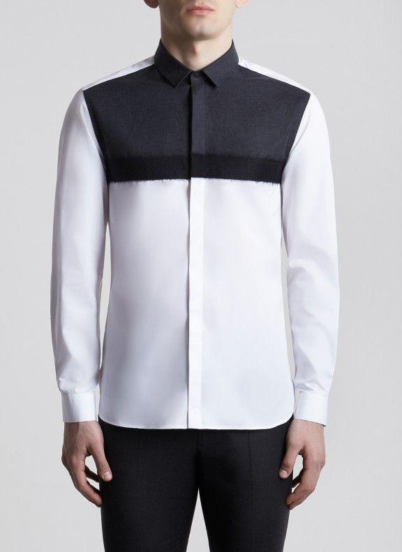 Straight Collar Bi-colour Natsro Shirt 990