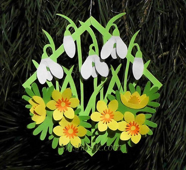 Шаблоны цветочков из бумаги