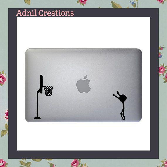 Macbook Decal, Stickman Basketball, Basketball Decal, Basketball Sticker, Sports Decal, Sport Stickers, Apple Macbook, iPad and other laptop