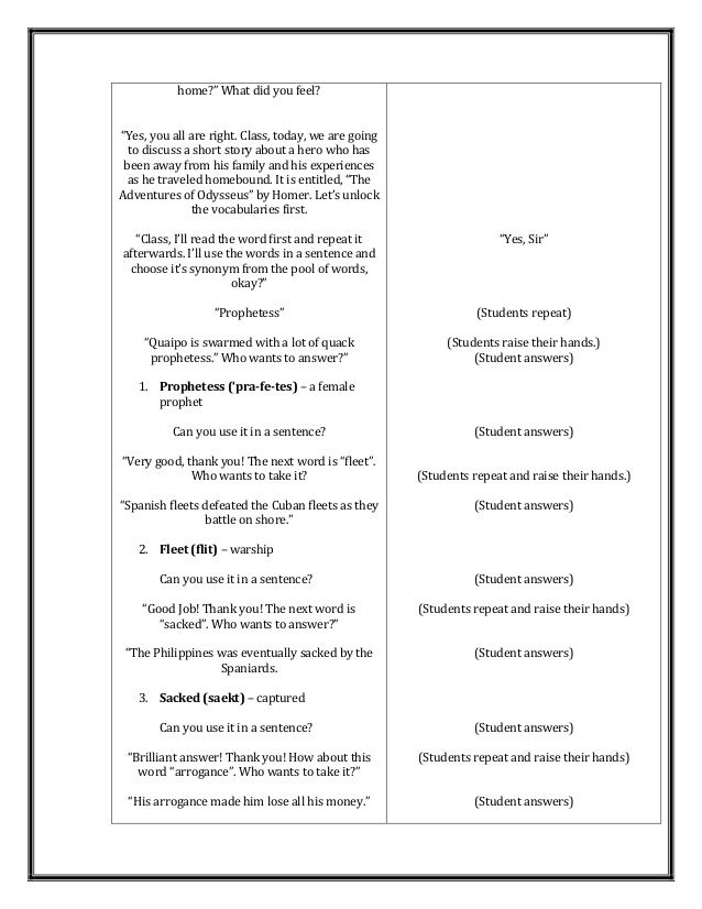 A Detailed Lesson Plan in World Literature | Classroom rules