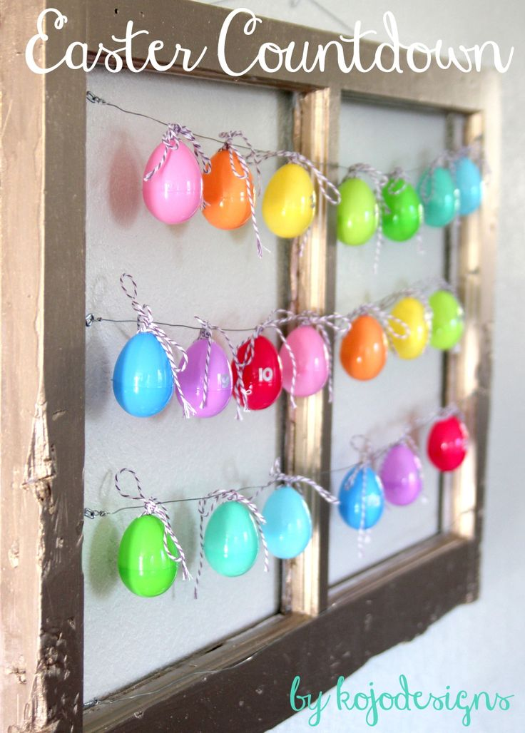 easter egg countdown (with easter activities)