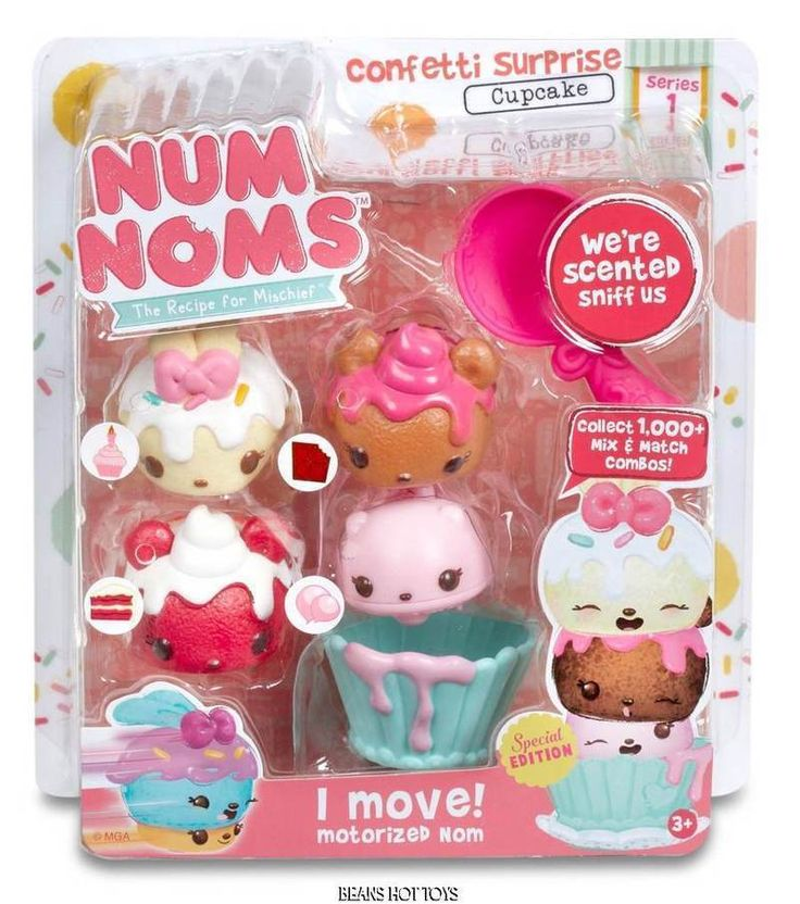 Num Noms Scented Starter 4-Pack * Confetti Surprise Cupcake VHTF #MGA