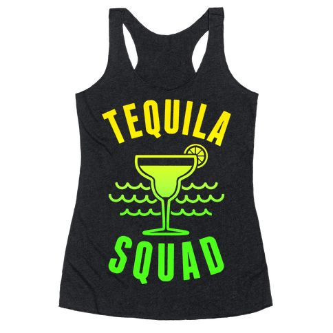 "This funny spring break shirts is great for all tequila, margarita, beach and sun lovers who are in the ""Tequila Squad."" This drinking shirt is perfect for fans of tequila shirts, spring break jokes, funny drinking, drinking jokes and tequila lovers. Be on vacation forever and reach those squad goals in this funny tequila beach tank top."