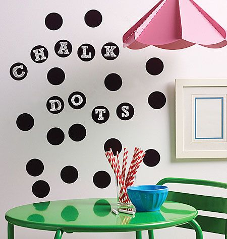 Chalkboard Dots W16056 Home Wallies Chalkboard Wall Decal Chalkboard Decal Dorm Room Walls