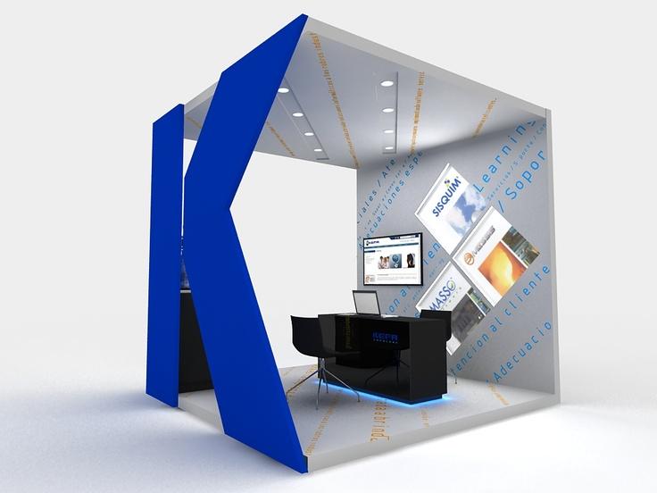 Stand para KEFA tecnología, diseño y render por Minga Diseño.