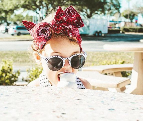 Fun in the sun with our Bandana Baby head wrap! Adorable for your summer babes! Repin to your own summer inspo board! shop at luluandmila.etsy.com