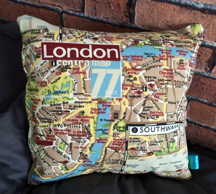 A personal favourite from my Etsy shop https://www.etsy.com/uk/listing/273969112/retro-london-map-cushion-london-map