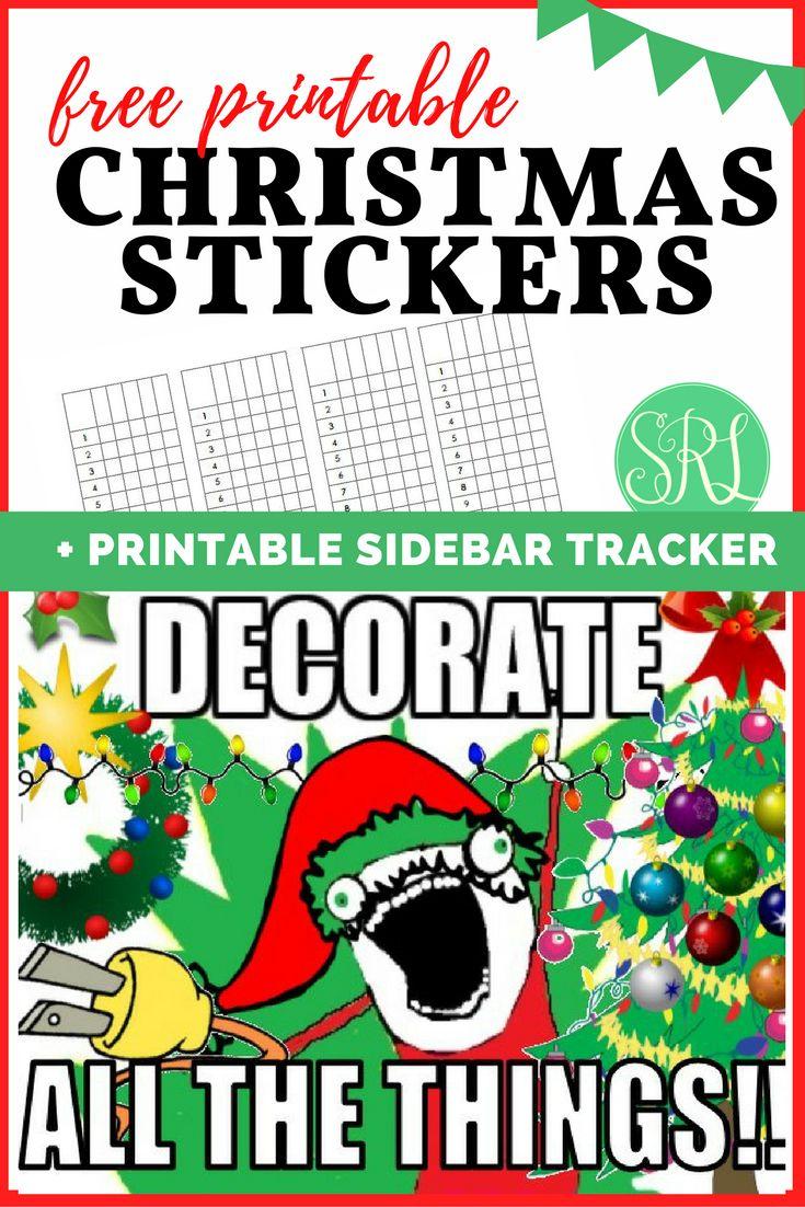 Free Printable Christmas Stickers plus a printable sidebar tracker!