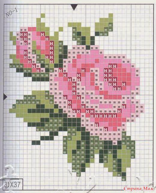 Розы (подборка схем)