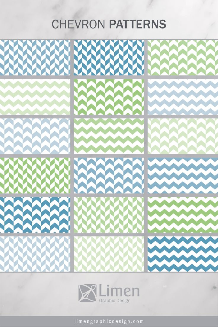 Blue & Green Chevron Patterns by Limen Graphic Design