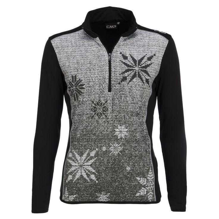 Campagnolo is een Italiaans merk dat bekend staat om technische producten in een stijlvolle Italiaanse stijl. Campagnolo maakt met grote zorg producten voor iedereen en diverse activiteiten en alle momenten van de dag. Wat jouw passie of hobby ook is, Campagnolo heeft producten voor jouw lifestyle.Deze zachte stretch pully heeft een rits tot aan de borst en een goede kraag. Het sneeuwvlok design geeft de skipully een winters gevoel. Zowel op de piste als second-layer als bij de aprés-ski…