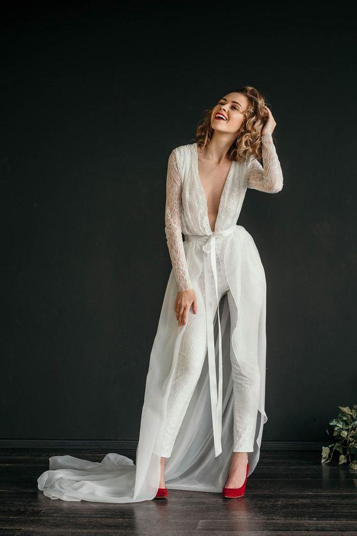 Diyjoy Diyjoy In 2020 Bride Jumpsuit Lace Jumpsuit Wedding Wedding Jumpsuit