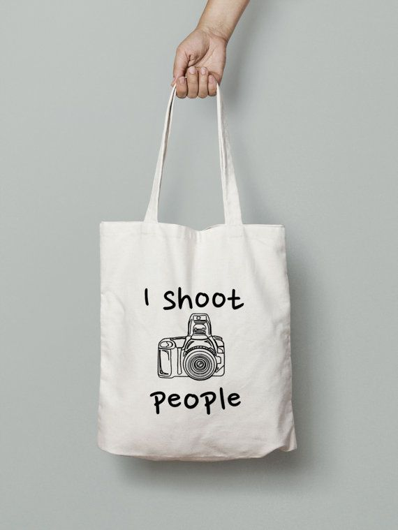 I Shoot People Tote Bag - Shopping Tote Bag - Canvas Tote Bag - Printed Tote Bag - Cotton Tote Bag - Large Canvas Tote -Photography Bag