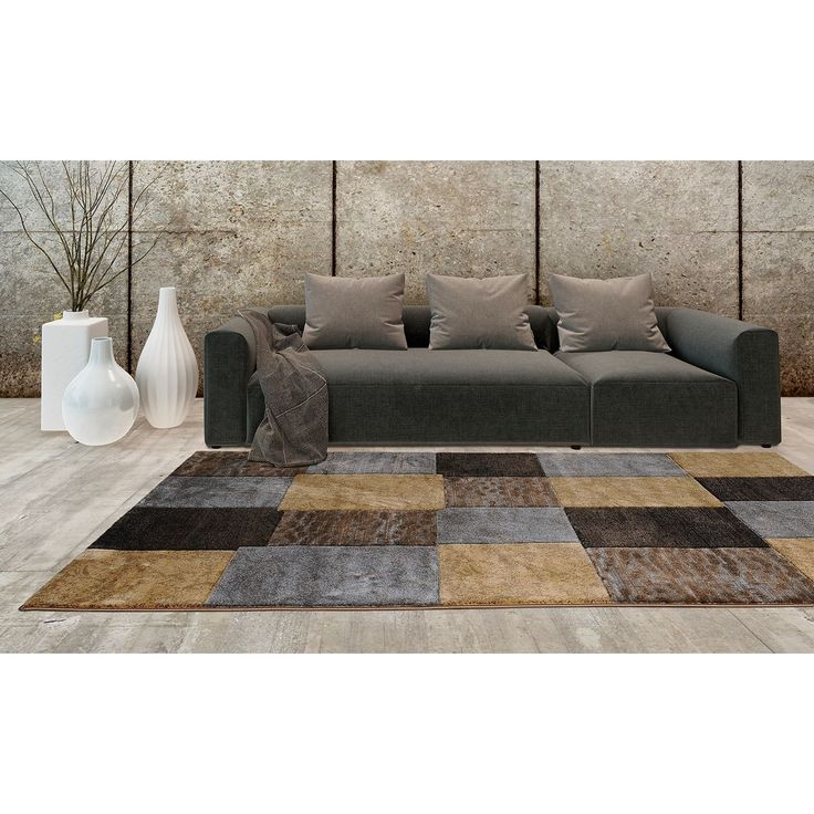 Home Dynamix Tribeca Collection Contemporary Plush Area Rug (3u00273 X 4u00277
