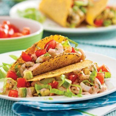 Tacos aux crevettes - Recettes - Cuisine et nutrition - Pratico Pratique