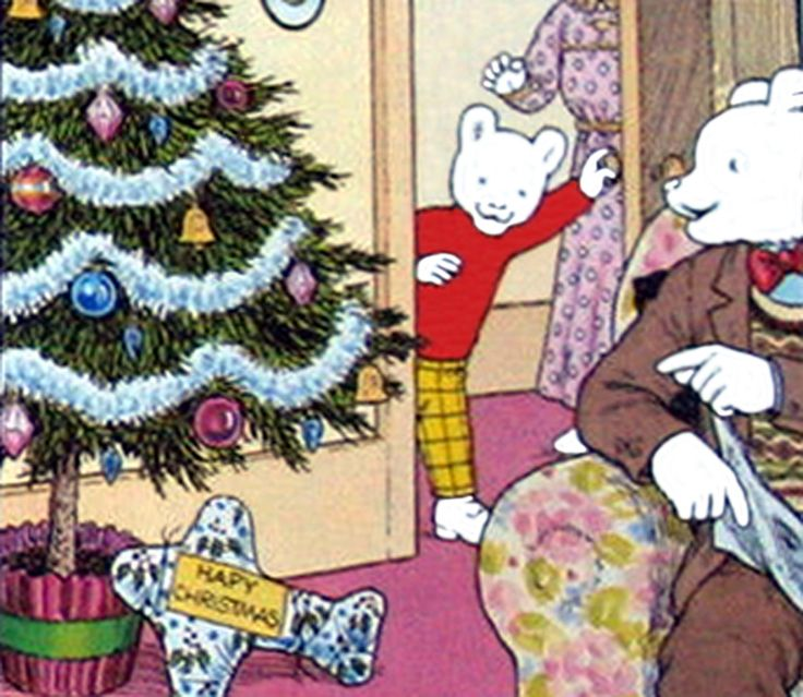 Rupert Bear and the surprise present