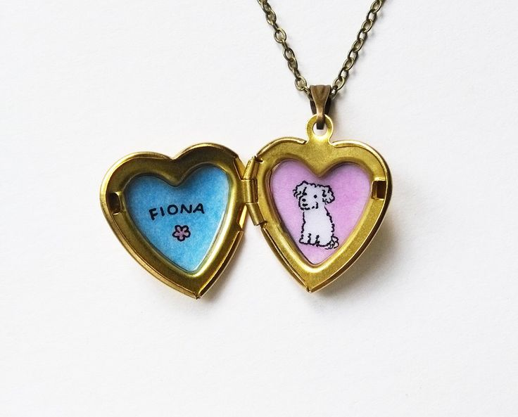 Custom Portrait Necklace - Pet + Name - Pet Memorial Jewelry - Custom Pet Portrait Heart Locket Pendant - Personalized Gift for Pet Lovers by biribis on Etsy https://www.etsy.com/listing/468203355/custom-portrait-necklace-pet-name-pet