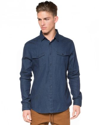 IFD Denim Long Sleeve Shirt