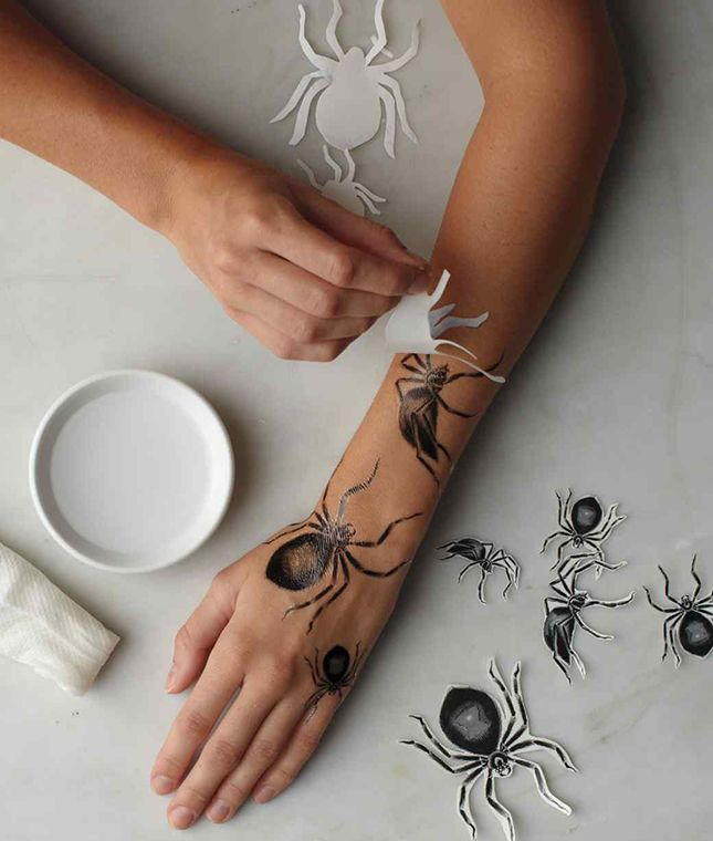18 temporary tattoos to bring your halloween look to the next level diy tattoo halloween. Black Bedroom Furniture Sets. Home Design Ideas