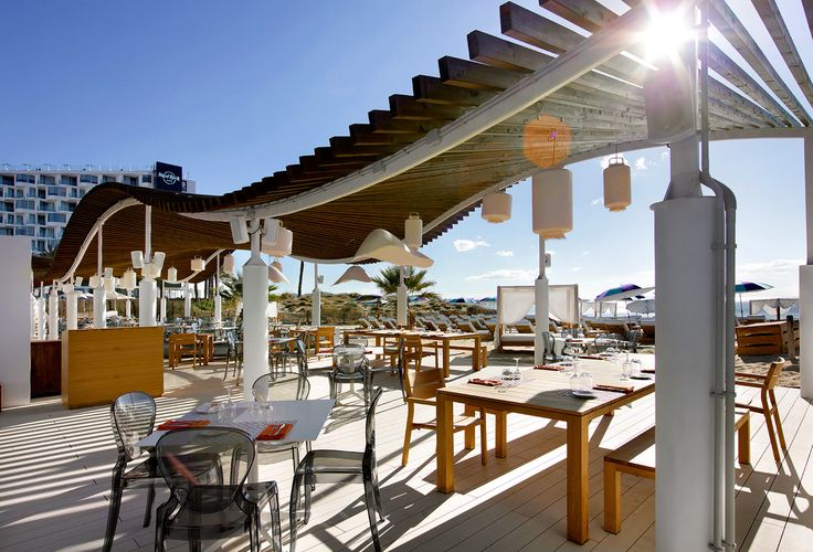 www.idecksystems.com - iDecking DURO (rice husk composite boards) installed with EasyClick system at the HARD ROCK HOTEL IBIZA - The Beach Club! Check out more about the most revolutionary decking systems and materials available on www.idecksystems.com