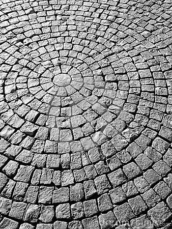 this makes me think of pattern because of how planned and how much of a pattern the bricks are in.