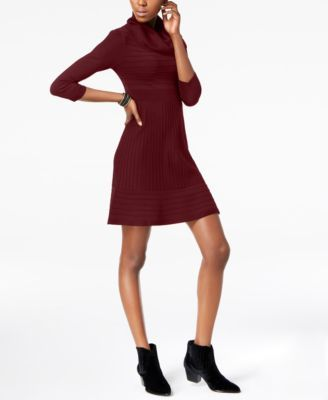 49d7e12dca INC International Concepts Petite Cowl-Neck Sweater Dress