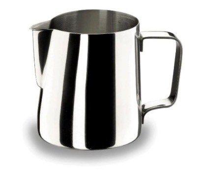 Jarra para espumar la leche de acero inoxidable: no puede faltar con tu cafetera espresso: Lacor 62235