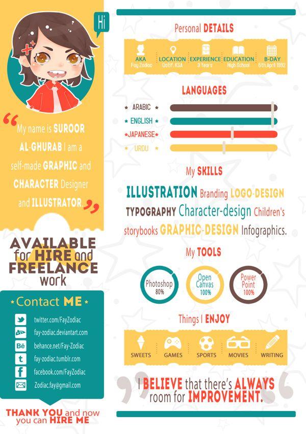 My Resume Free Template by Fay Zodiac, via Behance