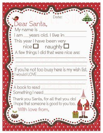 I've never encouraged letters to Santa, as they are usually a bit rude, I find. But this one is lovely.