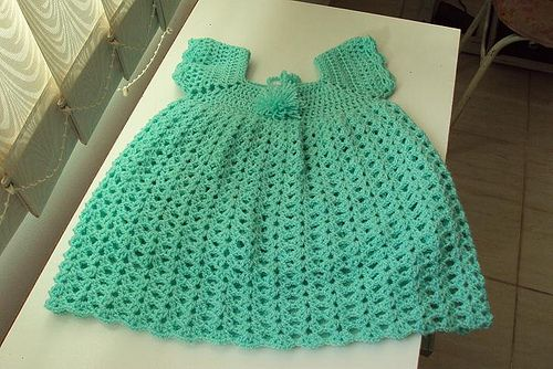 Vestidos de crochê para bebes 3