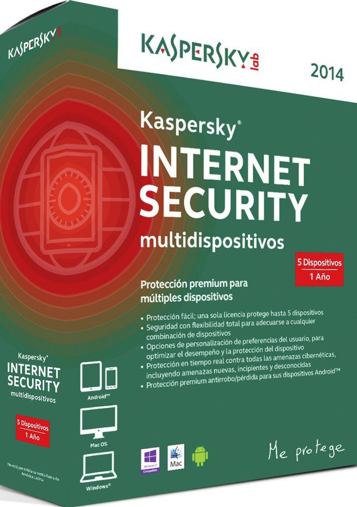 Licencia Kaspersky Internet Security Multidispositivos 2014 3 Dispositivos 1 Año #specialtech