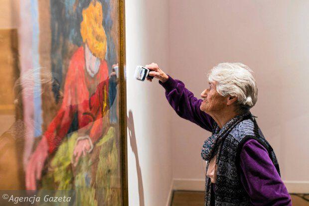 Jozef Czapski, Portret kobiety z lampą  Muzeum Narodowe: prezentacja obrazu Józefa Czapskiego