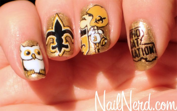 Holy crap, New Orleans Saints nails!!! That's what's up! It's on like Donkey Kong this year :)