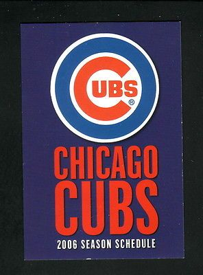 2006 Chicago Cubs Schedule--AAA