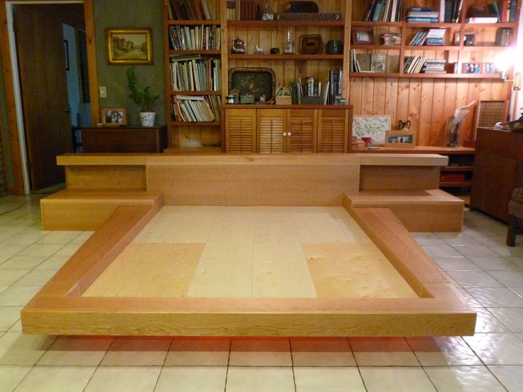 Japanese platform bed plans JAPANESE PLATFORM BED DIY Pallet Headboard With  Shelves Pallets A platform bed is one that doesn t use a box spring or metal