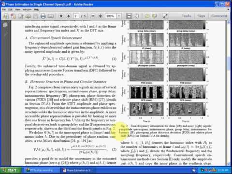 Phase Estimation in Single Channel Speech Enhancement Using Phase Decomp...