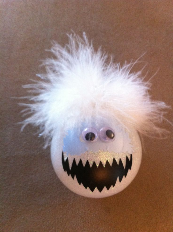 Bumble Abominable Snowman ornaments for this year's Holiday Gift Fair.