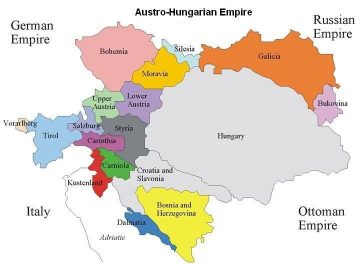 "Austria-Hungary, the Dual Monarchy. The compromise ""Ausgleich"" of 1867 divided the Habsburg Empire into two separate states with equal rights but under one sovereign and became known as the Dual Monarchy ""Doppelmonarchie""."