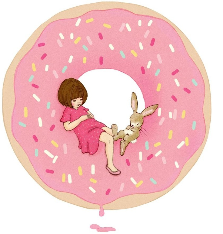Donut Mini - Chocovenyl. Mini Wall Sticker Decal. A high quality matt wall sticker with a slight fabric feel. Designed by Belle & Boo illustrator Mandy Sutcliffe.