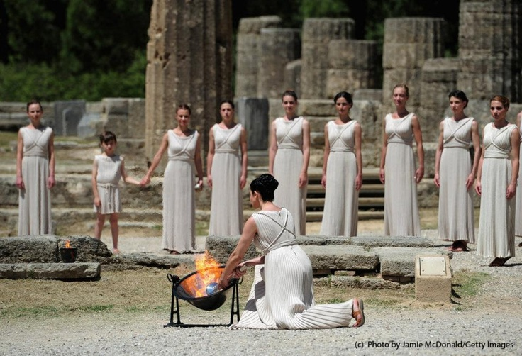 Would love to see The Olympic Torch lit at the Temple of Hera in Olympia