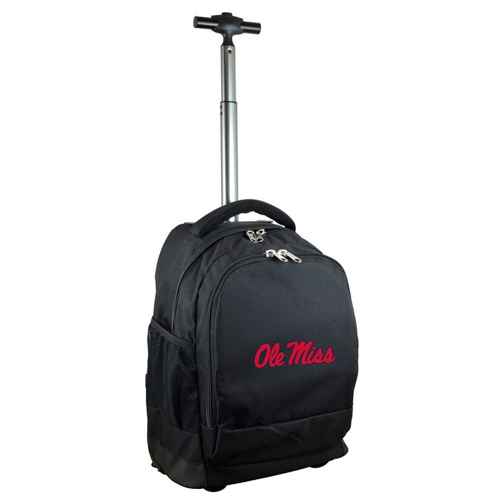NCAA Ole Miss Rebels Black Premium Wheeled Backpack
