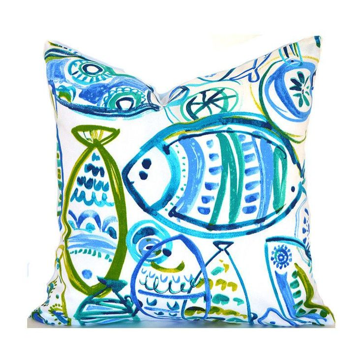 Outdoor Pillows ANY SIZE Outdoor Cushions Outdoor Pillow Covers Decorative Pillows Outdoor Cushion Covers Best Pillow OD Cast Ocean